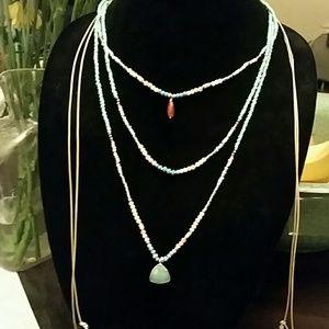 Nakamol Long Multi-Row Adjustable Beaded Necklace